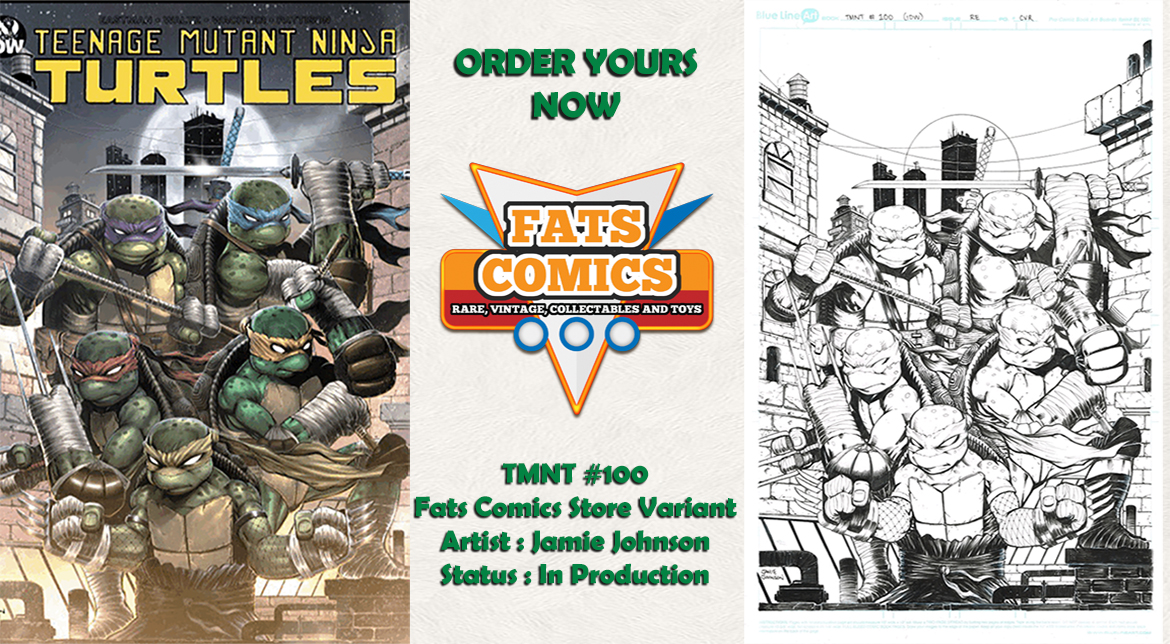 TMNT #100 Fats Comics Variant Art by Jamie Johnson